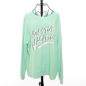 Wildfox NON-STOP VACATION Sweatshirt - Size Large